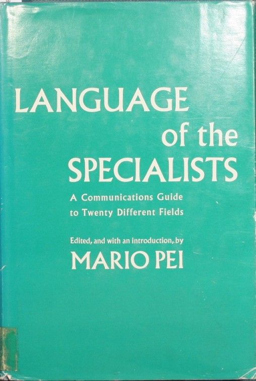 Language of the specialists